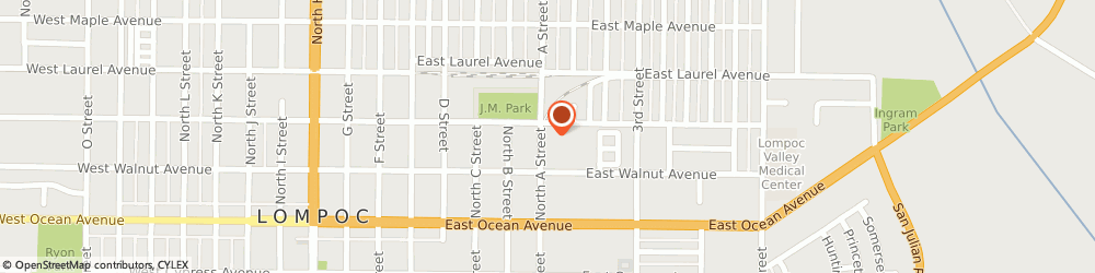 Route/map/directions to City Appliance, 93436 Lompoc, 224 N A St.