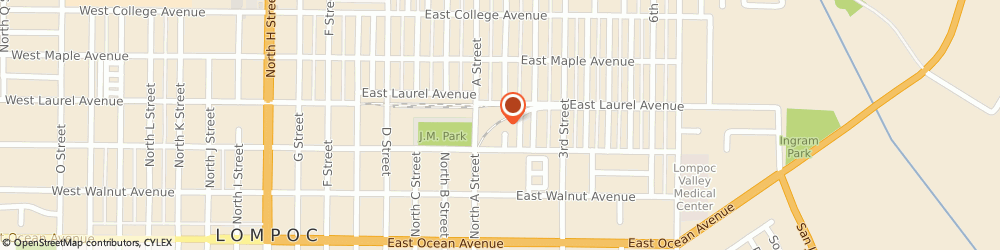 Route/map/directions to Professional Automotive Machine, 93436 Lompoc, 317 N 1ST ST