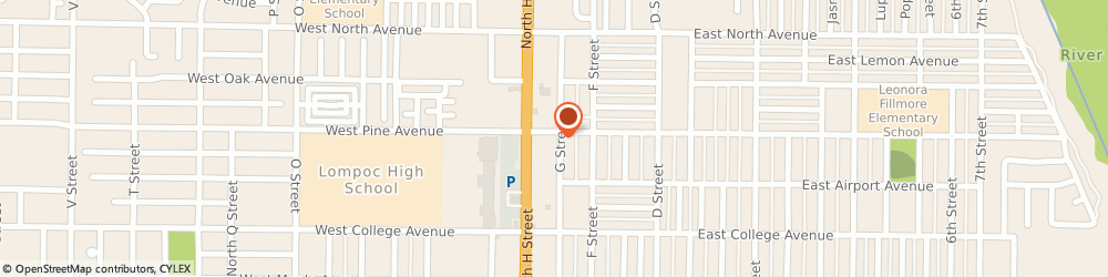 Route/map/directions to Creative Rents, 93436 Lompoc, 732 N H St