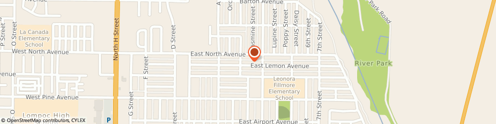Route/map/directions to Angel's Cleaning, 93436 Lompoc, 925 E Lemon Ave