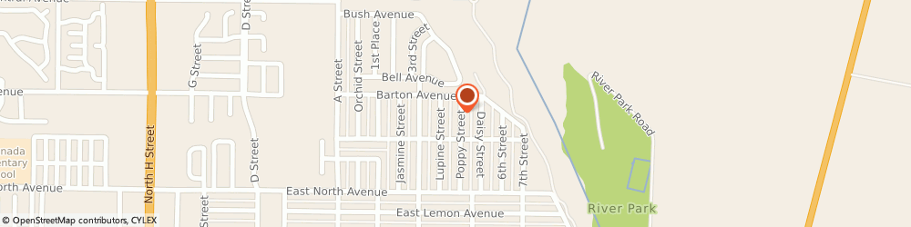 Route/map/directions to A & es Upholstery, 93436 Lompoc, 1121 N POPPY ST