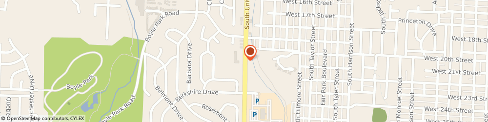 Route/map/directions to Citibank ATM, 72204 Little Rock, 2012 University Ave
