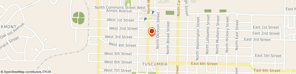 Route/map/directions to Gregs Texaco, 35674 Tuscumbia, 304 NORTH MAIN STREET