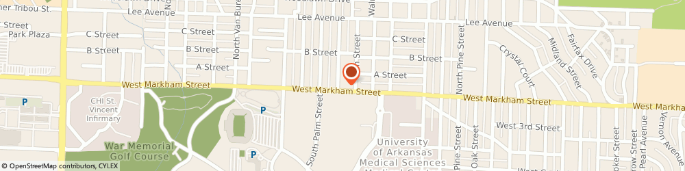 Route/map/directions to CITIBANK ATM, 72205 Little Rock, 4520 W. Markham