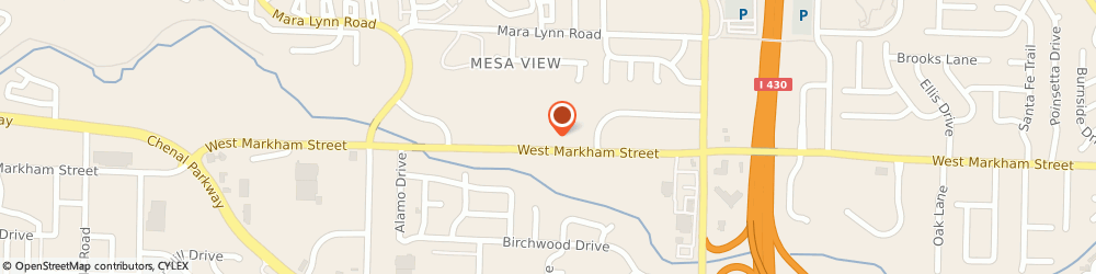 Route/map/directions to Citibank ATM, 72211 Little Rock, 11402 West Markham Street
