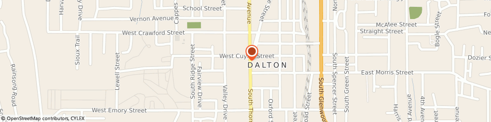 Route/map/directions to Bank Of America Mortgage, 30720 Dalton, 300 S THORNTON AVE