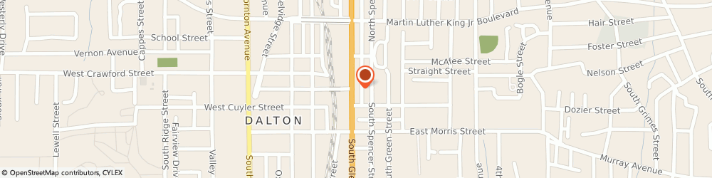 Route/map/directions to Bank of America, 30721 Dalton, 101 S Glenwood Ave.