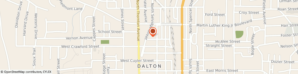 Route/map/directions to Central church of Christ, 30722 Dalton, 214 King Street