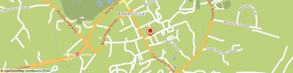 Route/map/directions to STATE FARM Jeff Davis, 30512 Blairsville, 211 Cleveland St
