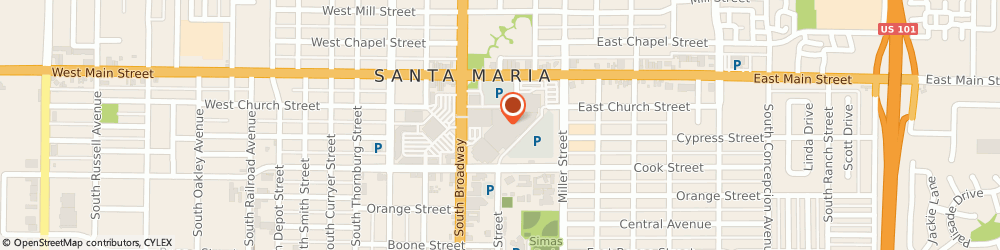 Route/map/directions to Spencers, 93454 Santa Maria, 371 Town Center East