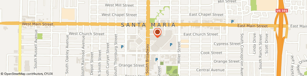 Route/map/directions to Motherhood Maternity, 93454 Santa Maria, Santa Maria Town Center 302 Town Center East