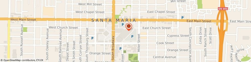 Route/map/directions to Foot Locker, 93454 Santa Maria, 124 Town Center East