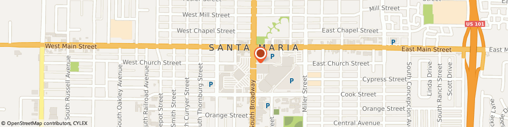 Route/map/directions to Spencer Gifts Inc, 93454 Santa Maria, 171 TOWN CTR E