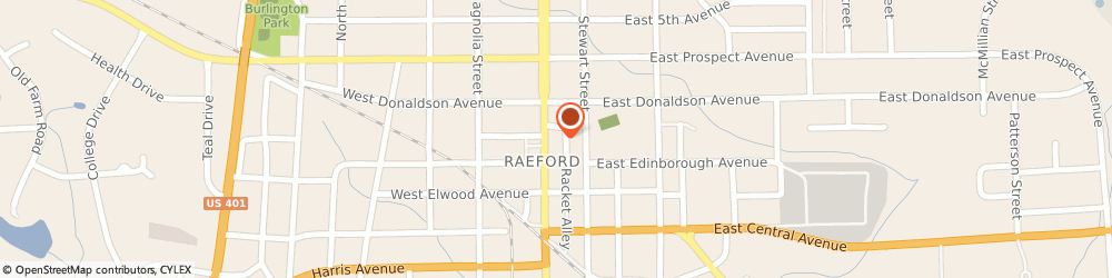 Route/map/directions to Raeford United Methodist Church, 28376 Raeford, 308 NORTH MAIN STREET