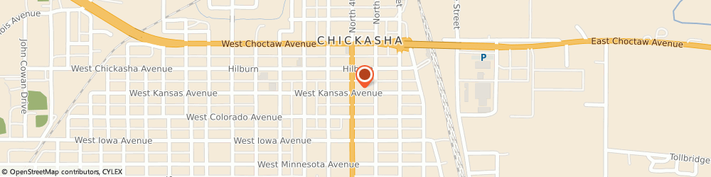 Route/map/directions to Edward Jones - Financial Advisor: Ron Sanders Jr, AAMS®, 73018 Chickasha, 328 W Kansas Ave