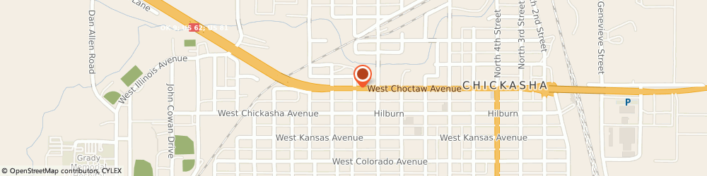 Route/map/directions to Security Finance, 73018 Chickasha, 1000 W CHOCTAW AVE STE 3
