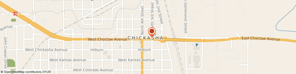 Route/map/directions to Cochran Abstract Co, 73018 Chickasha, 314 W Choctaw Ave