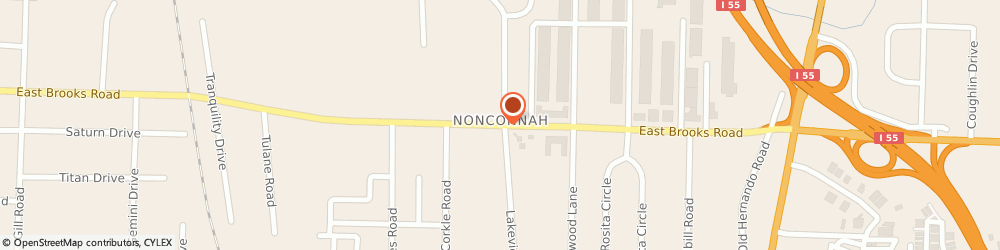Route/map/directions to Exxonmobil Distributor, 38116 Memphis, 816 E Brooks Rd.