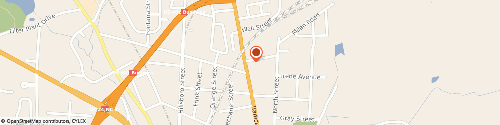 Route/map/directions to Gill Security Systems, Inc., 28301 Fayetteville, 818 Ramsey Street
