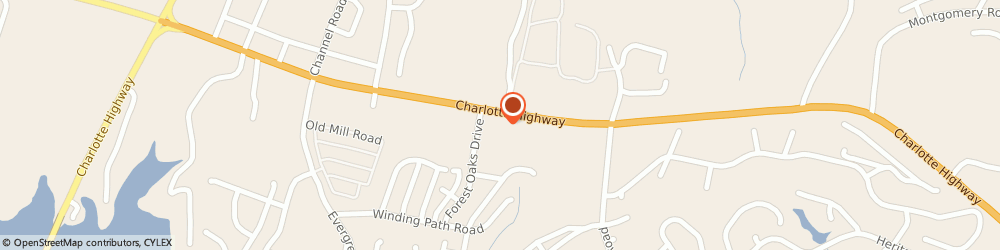 Route/map/directions to EXPRESS OIL CHANGE, 29710 Lake Wylie, 4825 Charlotte Hwy