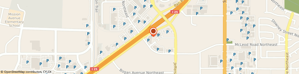 Route/map/directions to Aaron Office Furniture, 87101 Albuquerque, 5000 PAN AMERICAN FRWY.,