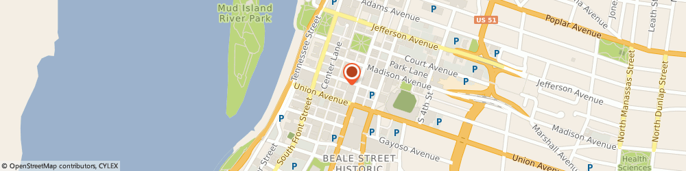 Route/map/directions to Shaner Hotel Group Quality, 38103 Memphis, 40 S MAIN ST