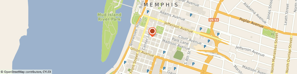 Route/map/directions to Hu Hotel, 38103 Memphis, 79 Madison Avenue