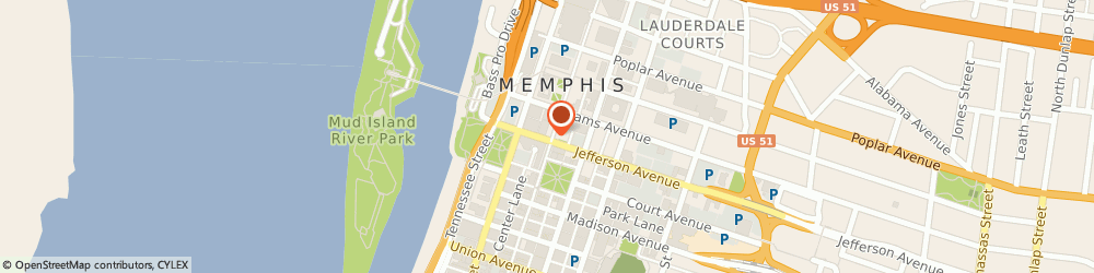 Route/map/directions to Subway, 38103 Memphis, 85 N Main St