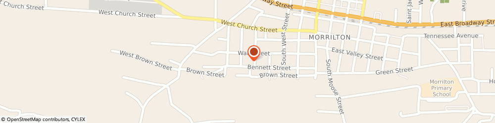 Route/map/directions to Rick's A/C, 72110 Morrilton, 502 Bennett St