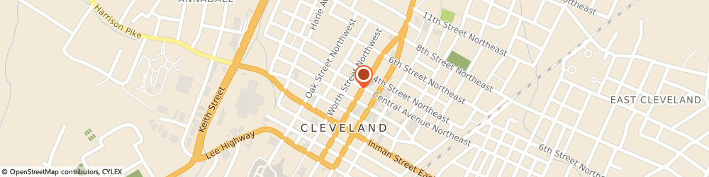 Route/map/directions to Broad Street United Methodist Church, 37311 Cleveland, 155 Central Ave Nw
