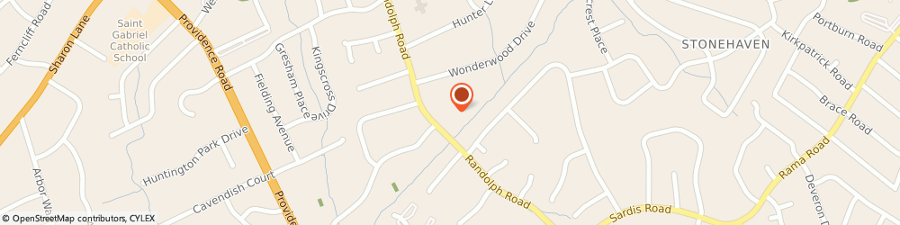 Route/map/directions to Waltonwood Cotswold, 28211 Charlotte, 5215 Randolph Road