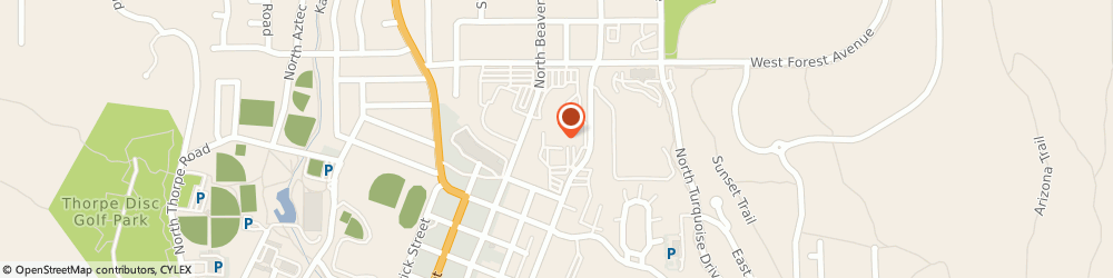 Route/map/directions to About My Health Hair Follicle Drug Testing, 86001 Flagstaff, 1200 N Beaver St