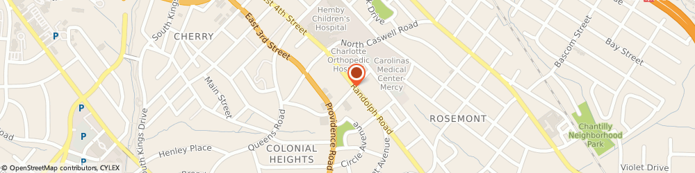 Route/map/directions to Breast Screening At Charlotte Radiology, 28207 Charlotte, 1960 RANDOLPH ROAD