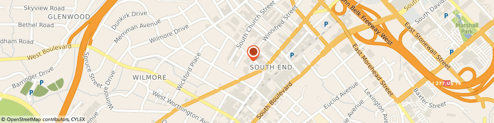 Route/map/directions to Ferguson Showroom Charlotte, 28203 Charlotte, 129 W Summit Ave