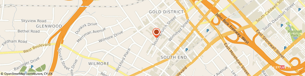 Route/map/directions to United refrigeration, 28203 Charlotte, 1450 South Church Street