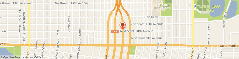 Route/map/directions to S & S Transmissions, 79107 Amarillo, 1001 NORTH PIERCE STREET