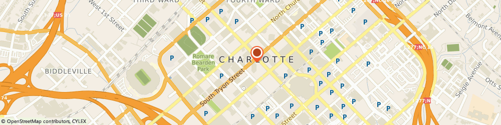 Route/map/directions to Roberts Law Group, PLLC, 28202 Charlotte, 112 S. Tryon Street