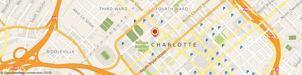 Route/map/directions to Minick Law, P.C.   Charlotte DUI Lawyer, 28202 Charlotte, 227 W 4th Street