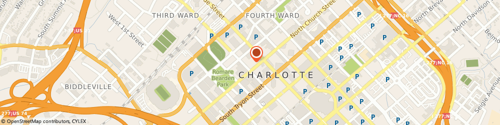 Route/map/directions to Morton's The Steakhouse, 28202 Charlotte, 227 W Trade St