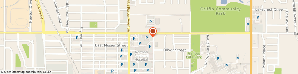 Route/map/directions to Christiansen John r, 73071 Norman, 500 EAST ROBINSON STREET