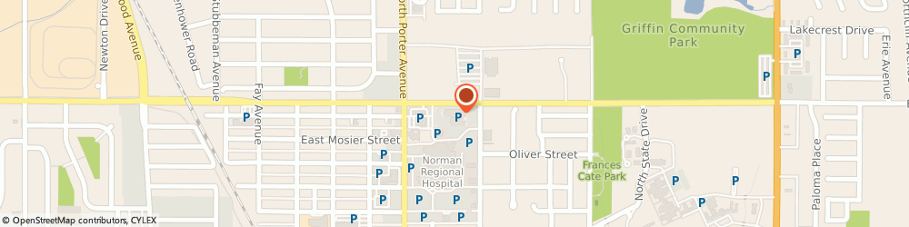 Route/map/directions to Norman Regional Pulmonary Clinic, (at Doctors Park), 73071 Norman, 500 E Robinson, Suite 2300
