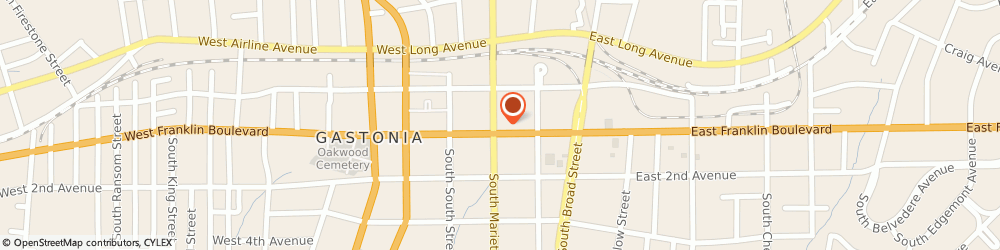 Route/map/directions to Wells Fargo Bank, 28052 Gastonia, 110 E Franklin Blvd
