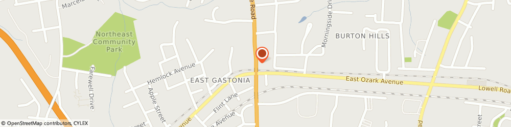 Route/map/directions to Zales Gastonia, 28052 Gastonia, North New Hope Rd