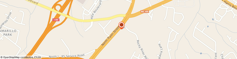Route/map/directions to In Town Suites, 28213 Charlotte, 7410 North Tryon Street