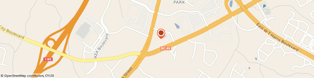 Route/map/directions to In Town Suites, 28262 Charlotte, 7706 North Tryon Street