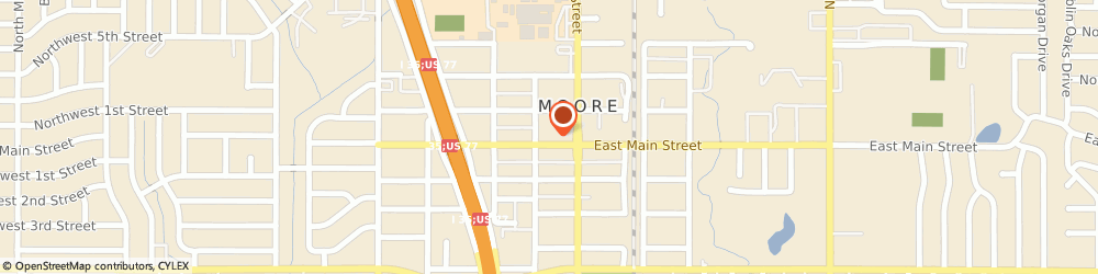 Route/map/directions to Farmers Insurance - Ashley Taylor, 73160 Moore, 121 W Main St