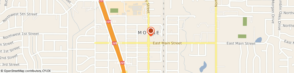 Route/map/directions to Jessica P Max: Allstate Insurance, 73160 Moore, 123 N Broadway St