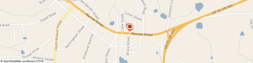 Route/map/directions to Liberty Tax Service Carthage, 28327 Carthage, 803 B Monroe St
