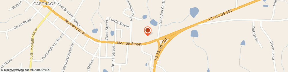 Route/map/directions to H&R Block, 28327 Carthage, 1005 Monroe St