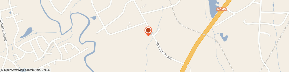 Route/map/directions to Stough Heating & Air Conditioning Incorporated, 28027 Concord, 4744 STOUGH ROAD SOUTHWEST